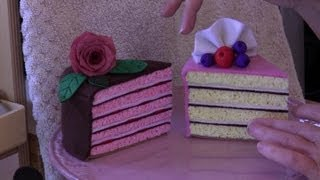 getlinkyoutube.com-Felt cake tutorial with Lisa Pay  - includes FREE pattern