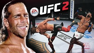 getlinkyoutube.com-The HBK Shawn Michaels SWEET CHIN MUSIC in EA SPORTS UFC 2 | Ultimate team CAF Gameplay