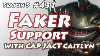 SKT T1 Faker - Tahm Kench Support(with Cpt Jack Caitlyn) - KR LOL Challenger