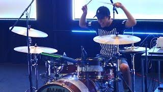 getlinkyoutube.com-Johnathan Cristan -  Bruno Mars - 24K Magic Drum Cover