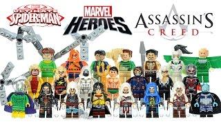 getlinkyoutube.com-Spider-Man Villains Marvel Super Heroes Assassin's Creed Unofficial LEGO Knockoff Minifigures
