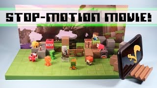 getlinkyoutube.com-Minecraft Mini-Figures Stop Motion Movie Creator Playset Review