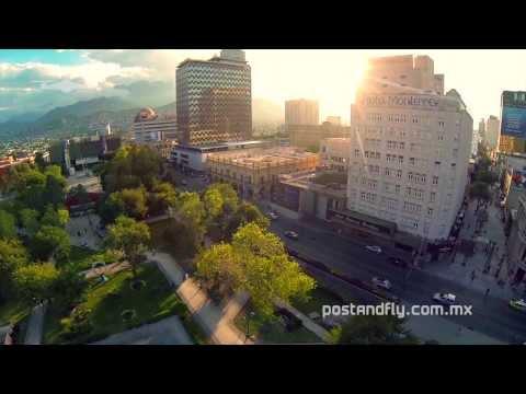 Macroplaza Monterrey desde el aire - DJI Phantom