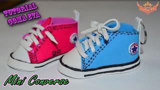 ♥ Tutorial: Mini Converse de Goma Eva (Foamy) ♥