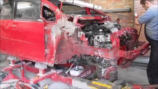 getlinkyoutube.com-Honda Fit. Body repair. Ремонт кузова.