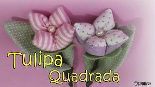 getlinkyoutube.com-Artesanato: Como fazer TULIPA QUADRADA - MODELO 2 - Flor, DIY