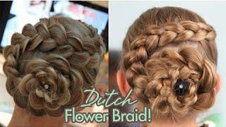 getlinkyoutube.com-Dutch Flower Braid | Updos | Cute Girls Hairstyles