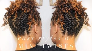 How To | 5 Easy Styles w/ Mini Twists | 4A Natural Hair