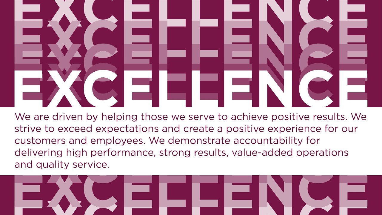 Core Values: Excellence