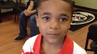 getlinkyoutube.com-Elijah wins barbershop BACKFLIP contest