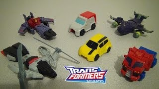MCDONALD'S TRANSFORMERS ANIMATED 2008 HAPPY MEAL TOY COLLECTION VIDEO REVIEW