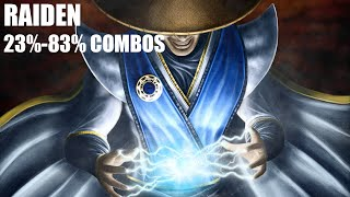 getlinkyoutube.com-Mortal Kombat X - Raiden Combos 23%-83% (1080p 60fps MKX Gameplay)