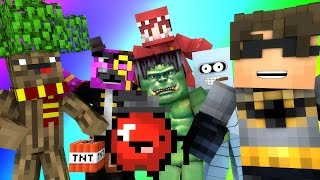 getlinkyoutube.com-Minecraft Mini-Game : DO NOT LAUGH! (THE ROSSOME TREE & RED THE HULK) w/ Facecam
