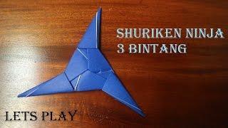 getlinkyoutube.com-Cara membuat origami bentuk shuriken 3 bintang