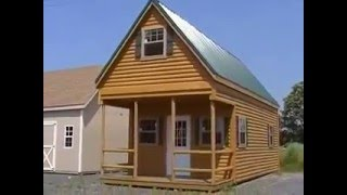 getlinkyoutube.com-Video Brochure Log Cabin Shed! 2 Story!