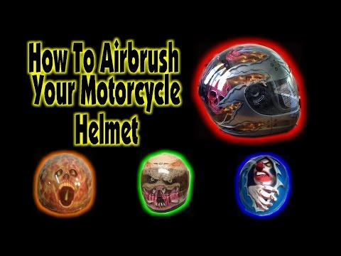 How To Airbrush Your Motorcycle Helmet
