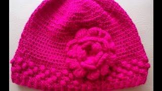 getlinkyoutube.com-Como Hacer un Gorro en Crochet Para Niña