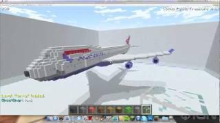 getlinkyoutube.com-Minecraft Airplane Boeing 747-400