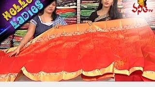 getlinkyoutube.com-Specially Designed Kanjivaram Pattu And Linen Jute Sarees || Hello Ladies || Vanitha TV