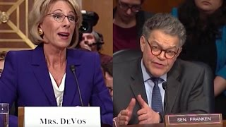 getlinkyoutube.com-Al Franken Embarrasses Trump's Education Pick
