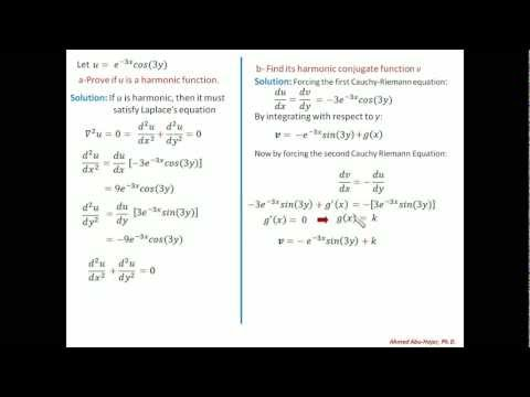 Complex Variables Math: Example of a Harmonic Function