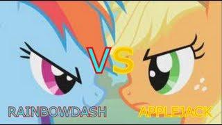 getlinkyoutube.com-Epic Rap Battles Of History (Pony Parody) 1 - RainbowDash VS AppleJack