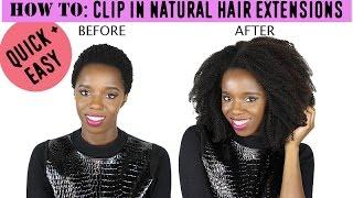 getlinkyoutube.com-BEST Install Tutorial for Natural Hair Clip In Extensions - CURLSISTAS HAIR