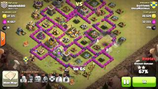 getlinkyoutube.com-3 Star Giant/Wizard combo attack on TH8 in clan wars