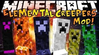 getlinkyoutube.com-Minecraft: ELEMENTAL CREEPERS MOD - Crazy New Creepers! (Mod Showcase)
