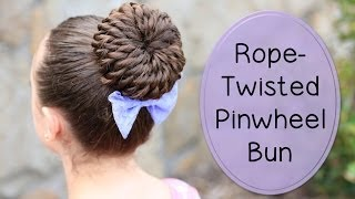 Rope-Twisted Pinwheel Bun | Prom Hairstyles