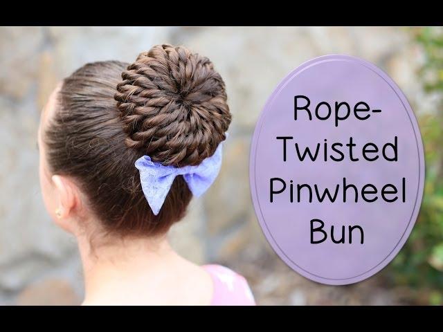 Rope-Twisted Pinwheel Bun | Prom Hairstyles
