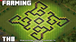 Clash of clans - Town hall 8 (TH8) Farming base [Labyrinth] 2015