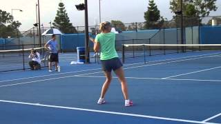 getlinkyoutube.com-Up Close with Maria Sharapova - Training Session in Brisbane 2014- HD