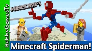 getlinkyoutube.com-Minecraft SPIDERMAN, LEGO Floyd + Trixie Gameplay by HobbyGamesTV