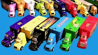 getlinkyoutube.com-20 Cars Trucks Haulers Complete Collection Mack, King, Wally, Dinoco, Mood Springs, Disney Pixar