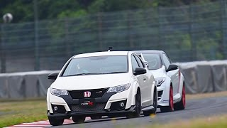 getlinkyoutube.com-鈴鹿で速いのはドッチ!?  CIVIC TYPE R VS MEGANE R.S. TROPHY-R