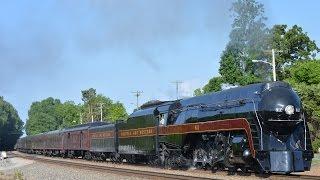 getlinkyoutube.com-Norfolk & Western Class J 611 Heading to Roanoke 5/30/15