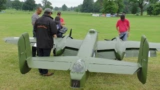 getlinkyoutube.com-② GIANT 1/3 SCALE  RC B-25 MITCHELL 2 X 400 cc MOKI 5 CYL - WESTON PARK 2014 - LEGENDARY FIGHTERS