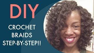 getlinkyoutube.com-18| EASIEST CROCHET BRAID TUTORIAL EVER (Step-by-step w/ Marley hair)