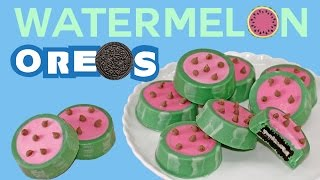 Watermelon OREO Cookies How to No-Bake Summer Snacks | My Cupcake Addiction