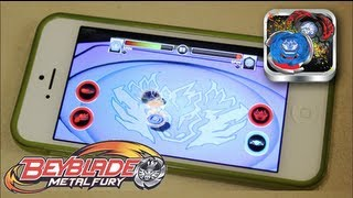 getlinkyoutube.com-Beyblade Battles Game GAMEPLAY & REVIEW! - Beyblade Metal Fury Hasbro App
