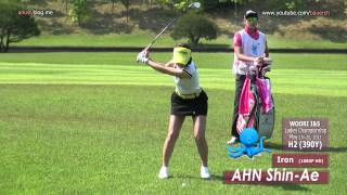 getlinkyoutube.com-[1080p HD] AHN Shin-Ae 2012 Iron with Practice Golf Swing (2)_KLPGA Tour