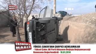 Erzincan'da Otomobil Evin Bahçesine Uçtu; 3 Yaralı
