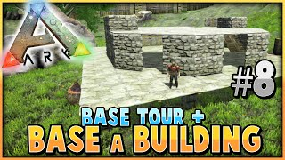 getlinkyoutube.com-ARK: Survival Evolved | BUILDING A BASE + TOWN TOUR! | S2 Ep 8 |