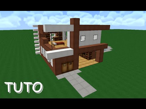 Petite Maison Moderne Minecraft [Tutoriel] + Download