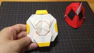 getlinkyoutube.com-おりがみ「エジソンゴーストアイコン」のつくりかた 仮面ライダーゴースト How to make Origami Hero Maskkamen rider ghost