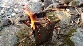 getlinkyoutube.com-ファイヤーボックスで初、火入れ。 FireBox  Stove  daycamp  ファイヤーボックス ストーブ キャンプ