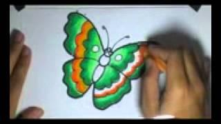 getlinkyoutube.com-Menggambar dan Mewarnai si Kupu-Kupu Dengan Menggunakan Crayon
