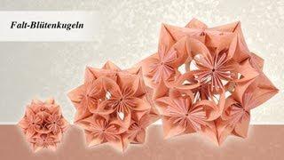 getlinkyoutube.com-Ideen mit Herz - Blütenkugel - Fleurogami - aus 1 mach 3