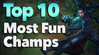 getlinkyoutube.com-Top 10 Most Fun Champions to Play in League of Legends